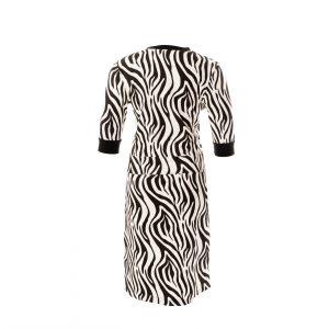 jurk zebra print